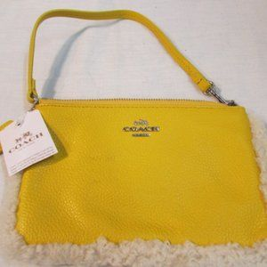 Coach Yellow Leather Wristlet